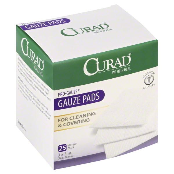 Medline Industries Curad Pro-Gauze Gauze Pads, 25 ea