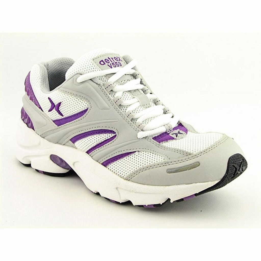 Aetrex Women's V559 Silver Purple Runner Sneaker by Aetrex