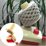 Clearance Hand Operated Wool Yarn Ball Winder Beige & Red Plastic + Metal Fashionable Portable Hand Knitting Roll String Yarn Fiber Wool Thread Ball Black Friday Big Sale