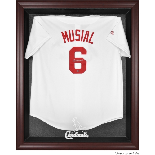 St. Louis Cardinals Fanatics Authentic Mahogany Framed Logo Jersey Display Case - No Size