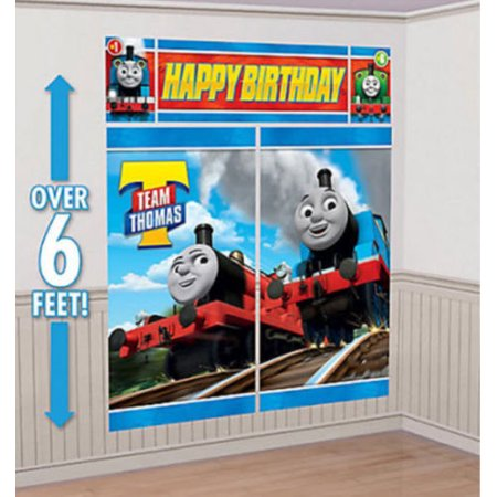 THOMAS The TANK ENGINE Scene Setter HAPPY BIRTHDAY Party Wall Decor Percy Train
