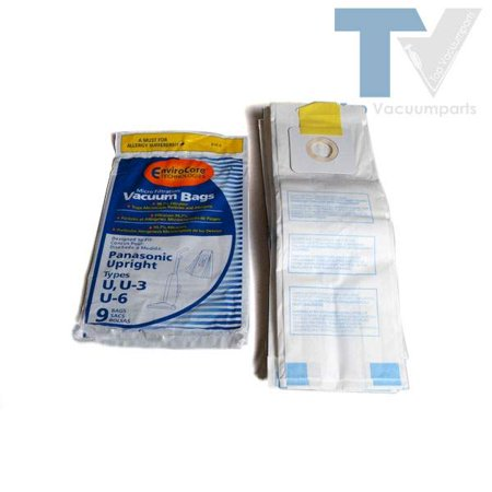 Panasonic Type U,U-3, U-6 Upright Vacuum Cleaner Microfiltration Paper Bags 9PK // 816-9