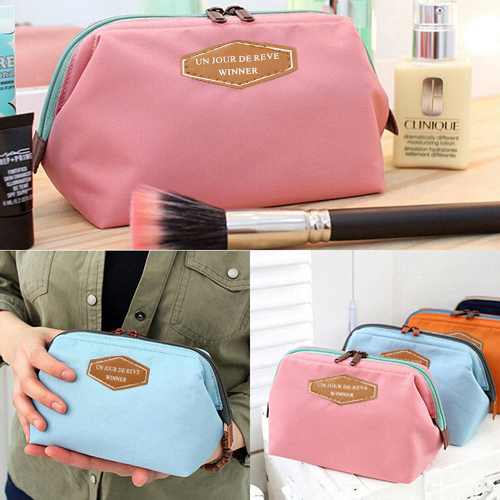 Micelec Portable Cosmetic Organizer Beauty Travel Makeup Zipper Bag Case Toiletry Pouch
