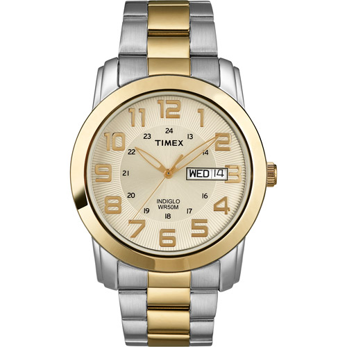 Timex Men's Highland Street Watch, Two-Tone Stainless Steel Bracelet by Timex