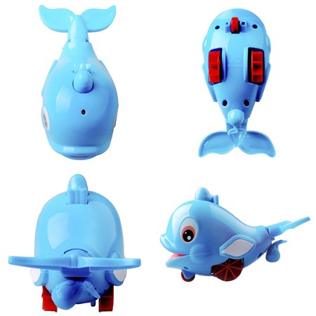 Cute Dolphin Baby Kids Bath Shower Toy Squirt Water Swimming Fish Pull Kids Toys - image 3 of 7