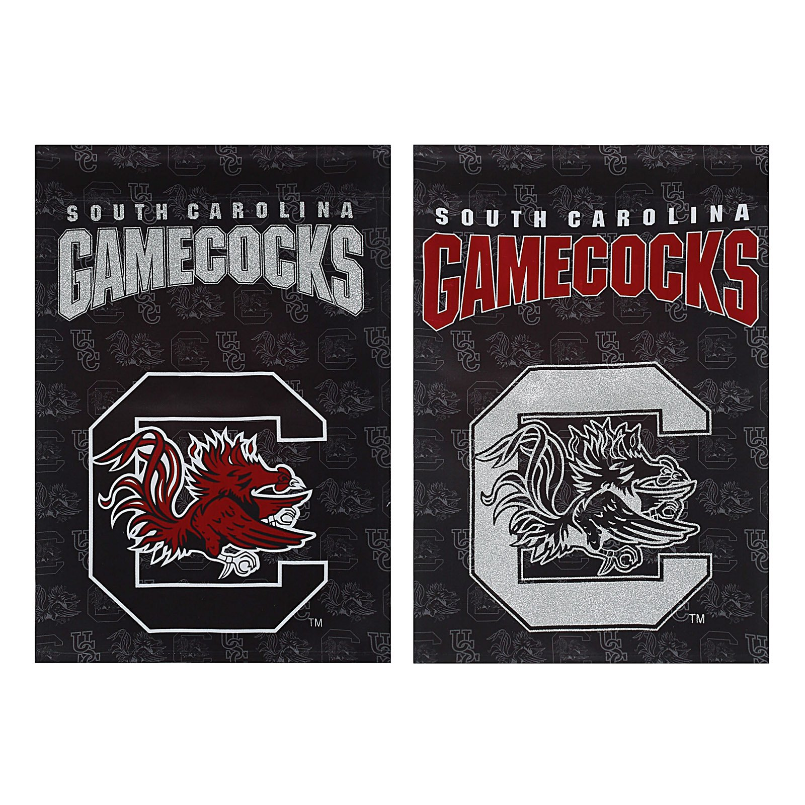 Team Sports America NCAA Double Sided Suede Glitter Accented Flag