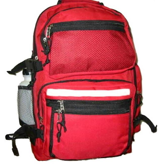K-Cliffs Polyester Backpack With Bottle - 19 x 13 x 8 in. Red