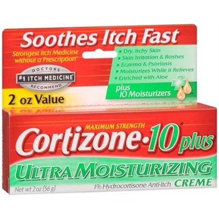 Cortizone-10 Force maximale plus Anti-Itch Crème 2 oz (Lot de 2)