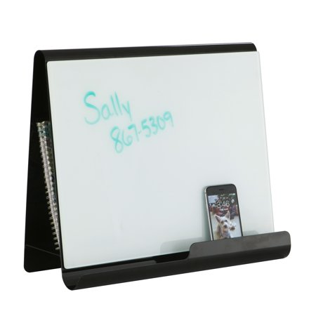 Whiteboard Stand - Lot of 11 Wave Desk Accessory Durable Black Steel Desktop Whiteboard & Magnetic Document Stand-3220BL