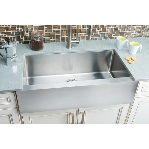 Hahn Flat-Apron 35.88'' L x 20.75'' W Single Bowl Farmhouse Kitchen Sink
