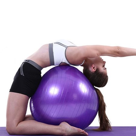Zimtown Yoga Pilates Balance Stability Ball With Foot Pump For Gymnastic Gym Workout Fitness Exercise