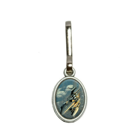 US Airforce F-15 Strike Eagle Oval Zipper Pull