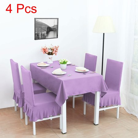 Spandex Stretch Dining Chair Cover Protector Seat Slipcover Light Purple