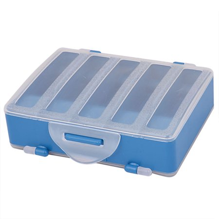 2 Sides 10 Compartments Fishing Tackle Box Hook Lure Case