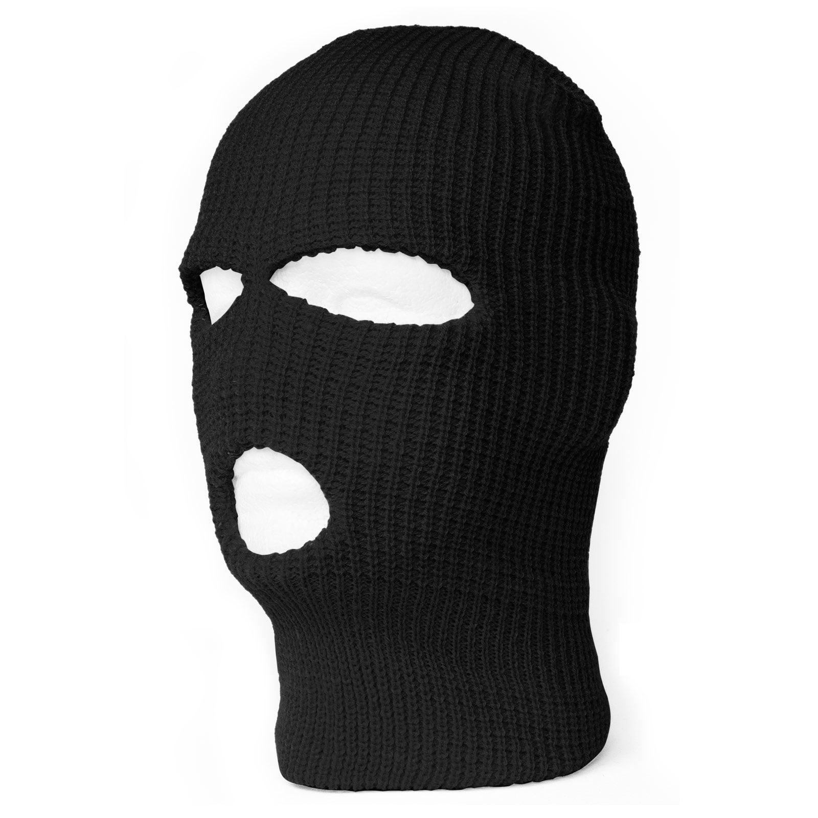 TopHeadwear's 3 Hole Face Ski Mask, Black 1pc by