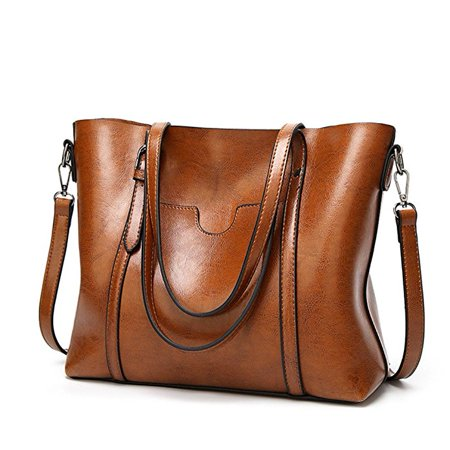 Women Fashion Top Handle Satchel Handbags Shoulder Bag - Handle Boston Bag