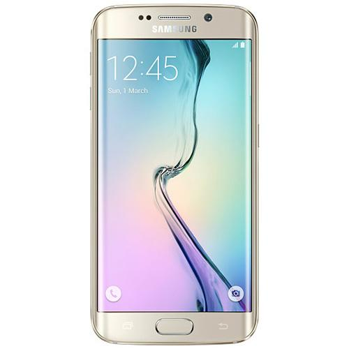 "Samsung Galaxy S6-EDGE-G925i-Gold Platinum 5.1"" Touch Screen-16.0 Megapixel Camera-Android 5.0.2 by Samsung"