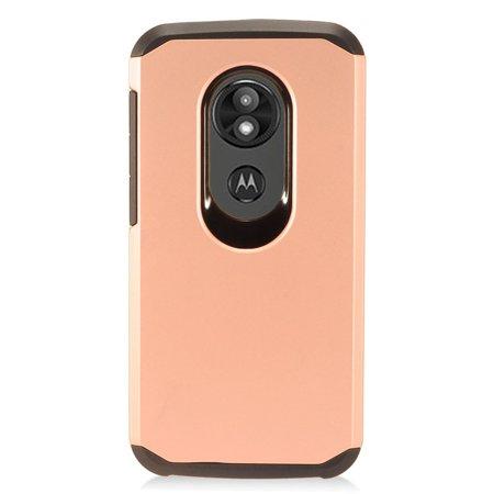 Dual 1/4 Phone (Moto E5 Cruise case Moto E5 Play case by Insten Hard Plastic/Soft TPU Rubber Dual Layer [Shock Absorbing] Hybrid Case Phone Cover For Motorola Moto E5 Cruise/E5)