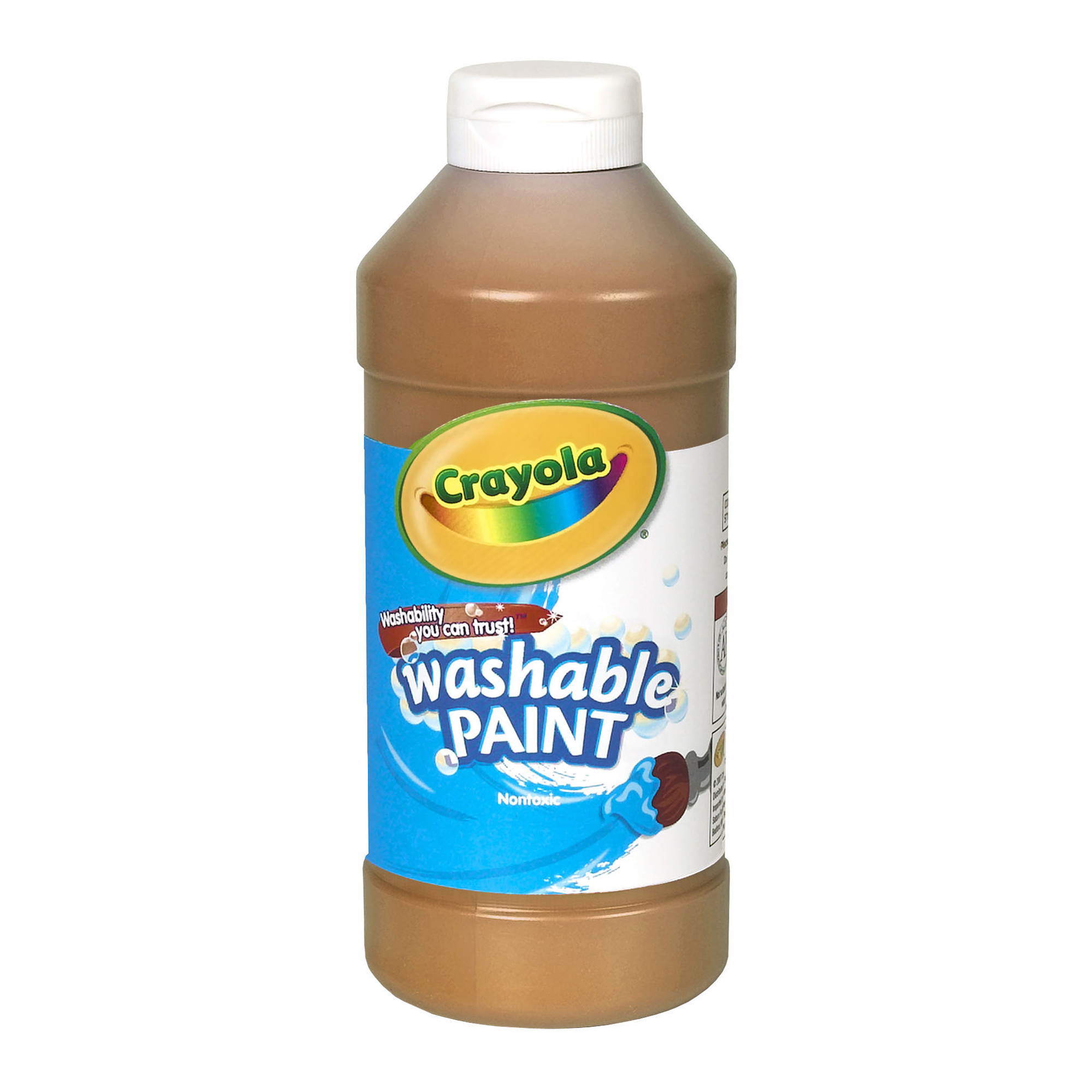 Crayola® Washable Paint, Brown, 16 oz., Set of 6 bottles