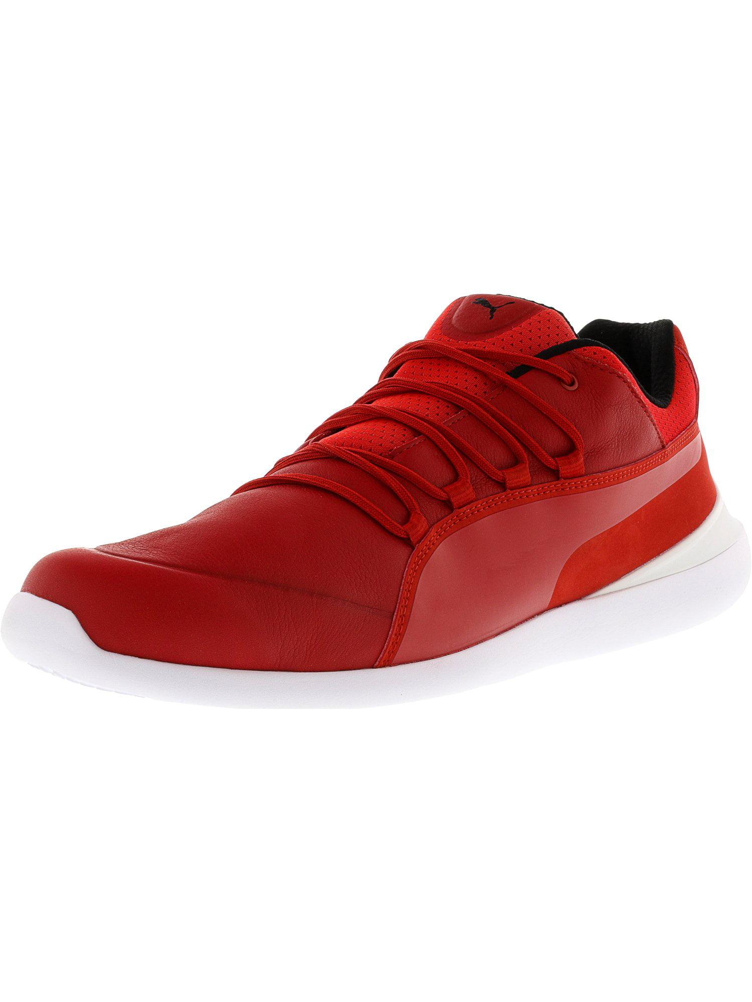 Puma Men's Ferrari Evo Cat Rosso Corsa / White Ankle-High Fashion Sneaker - 11M