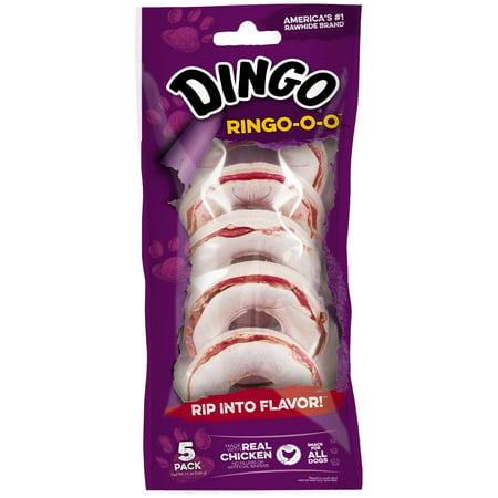 (Dingo Ring-o-o Chews for Dogs Made with Real Chicken, 5 Count)