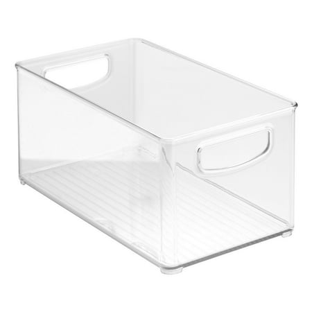 "Clear Organizer Storage Bin with Handle for Kitchen I Best for Refrigerators, Cabinets & Food Pantry - 10"" x 5"" x 6"""