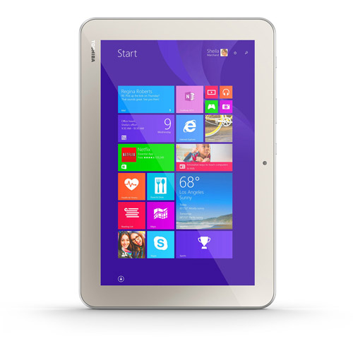 "Refurbished Toshiba WT10-A32 Encore 2 32GB Satin Gold 10.0"" Intel Atom Z3735G Wi-Fi Tablet"