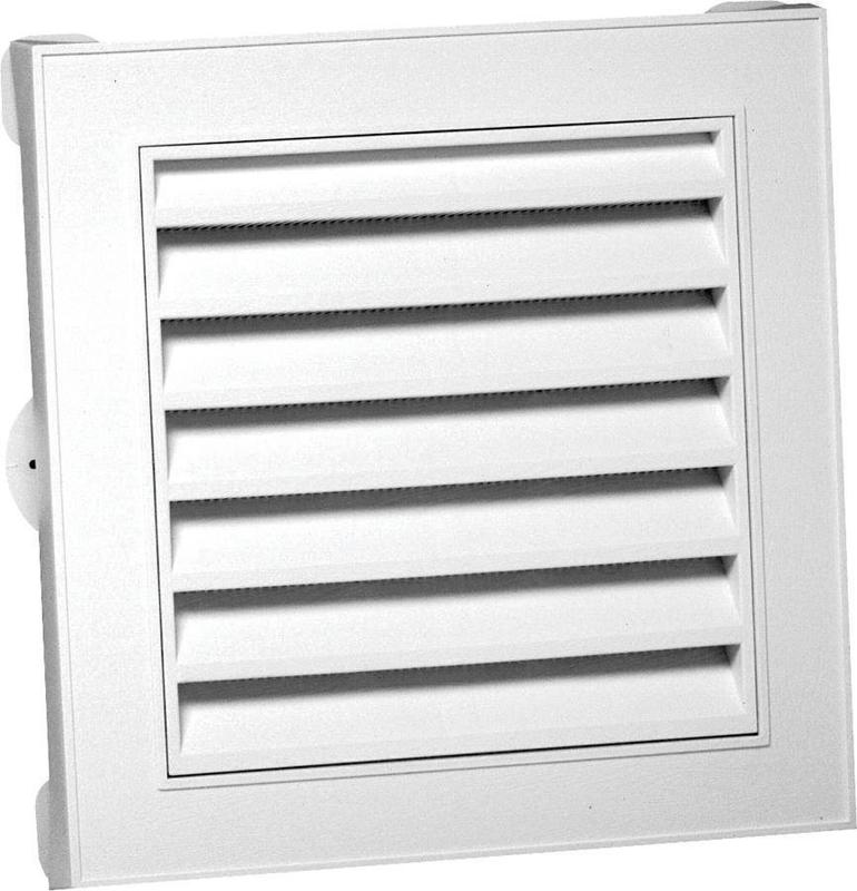 Canplas 626043-00 Square Gable Vent, 44 sq-in, Polypropylene