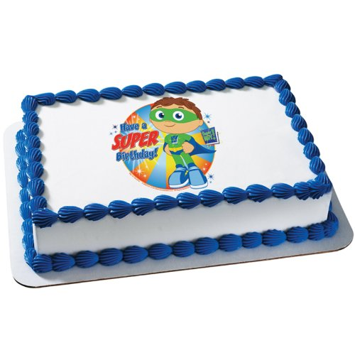 Super Why Super Birthday Edible Icing Cake Topper Walmartcom