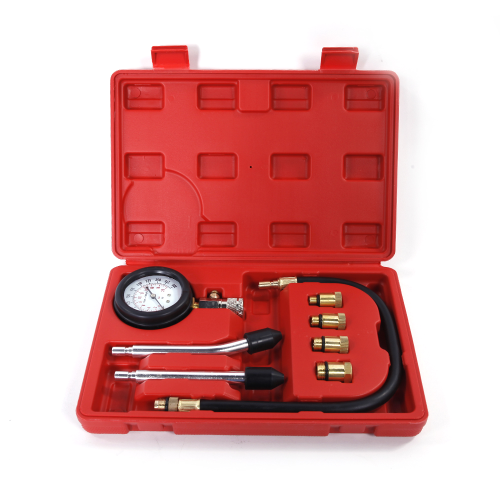 Ktaxon Portable and Multi-Function Gas Diesel Motocycle Automotive Engine Cylinder Compression Tester Gauge Kit Check Tool