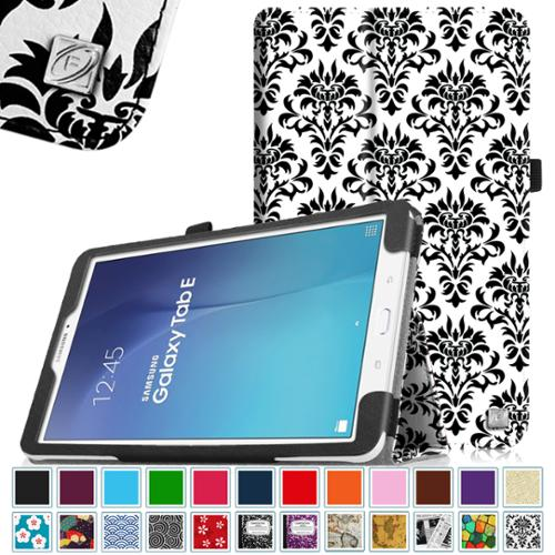 Samsung Galaxy Tab E 9.6 / Tab E Nook 9.6 Inch Tablet Folio Case - Fintie Slim Fit PU Leather Stand Cover, Versailles