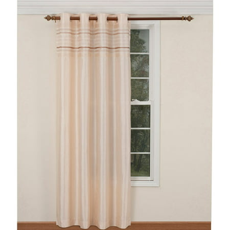 Belle Maison Fiesta Lurex Striped Curtain Panel ()