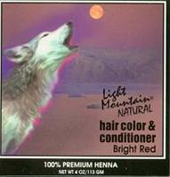 Hair Color & Conditioner- Bright Red Light Mountain 4 oz Powder