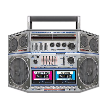 Pack of 6 Rockin' 80's Cassette Player Boom Box Stand-Up Party Decorations 37