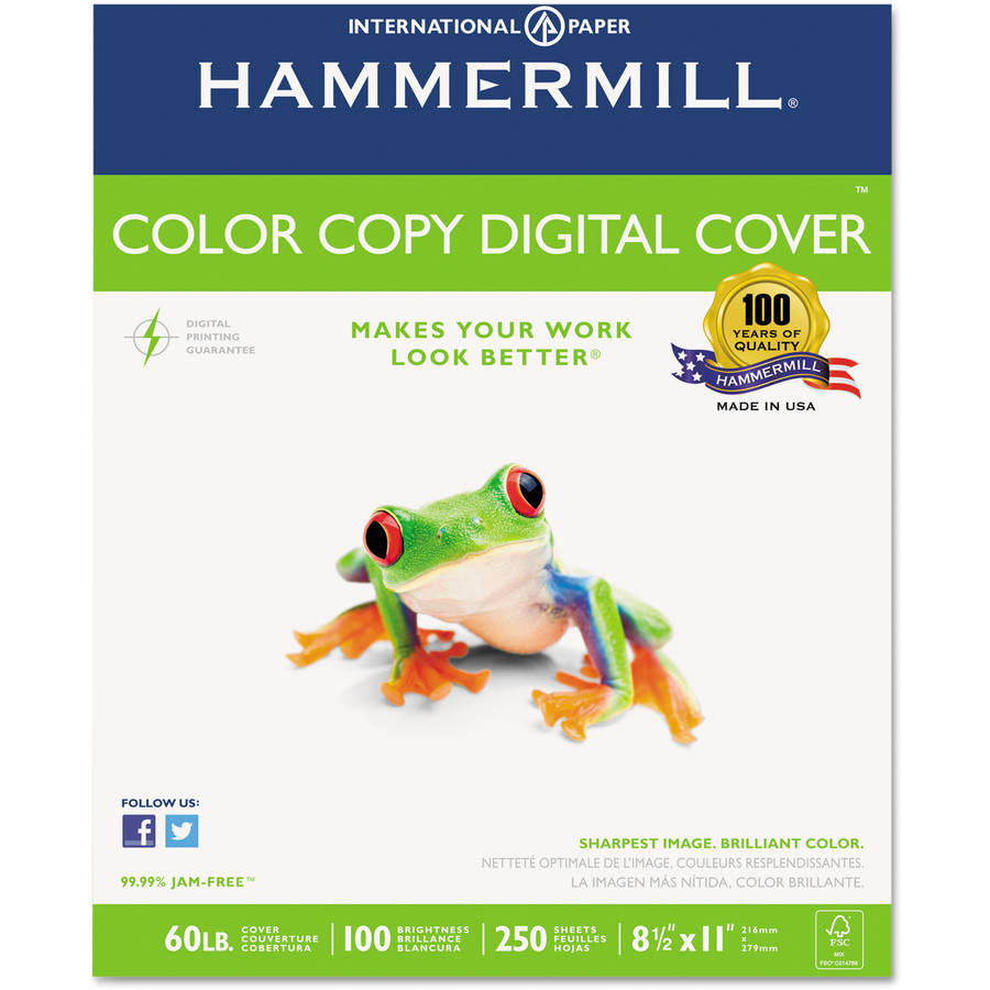 "Hammermill Cover Stock, 8-1/2"" x 11"", Pack of 250 Sheets"