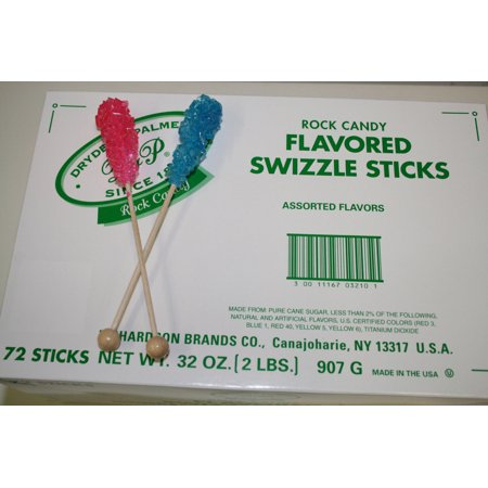 BAYSIDE CANDY ROCK CANDY SWIZZLE STICKS ASSORTED, 72 PIECES!!!](Candy Rocks)
