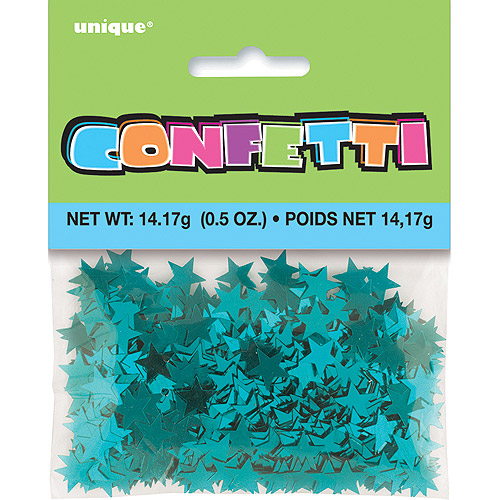 Foil Star Confetti, 0.5 oz, Teal