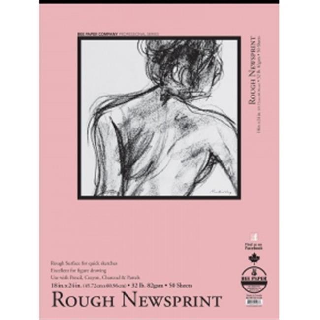 "Bee Paper Rough Newsprint Pad 18"" x 24"""