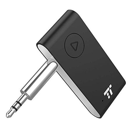 TaoTronics Bluetooth Aux Adapter, APTX Stereo Bluetooth Receiver, 15 Hour Hands-Free Car kit, Wireless Audio Bluetooth 4.2 Car Adapter, Auto on once Plugged to Power(cVc