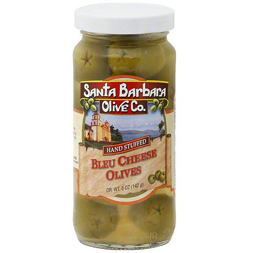 Santa Barbara Olive Co. Blue Cheese Stuffed Olives, 5 oz (Pack of 6)
