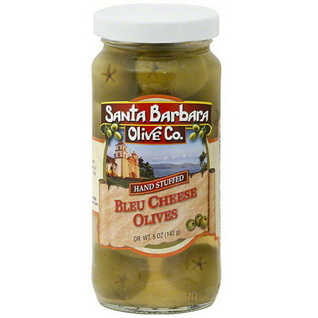 Santa Barbara Olive Co. Blue Cheese Stuffed Olives, 5 oz (Pack of