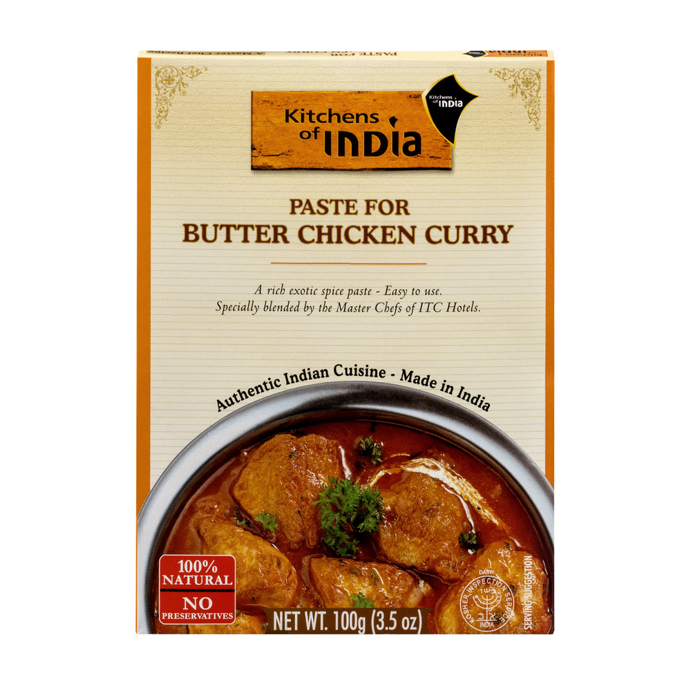 Kitchens of India Paste for Butter Chicken Curry, 3.5 OZ