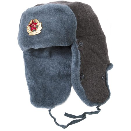 42a93d16968 Authentic Soviet Army Ushanka Winter Hat - Walmart.com