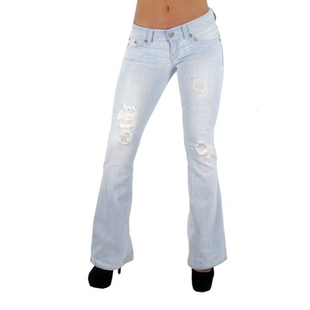 The Sexy Flare By Fashion2Love Bootleg Ripped Premium Bootcut Jeans