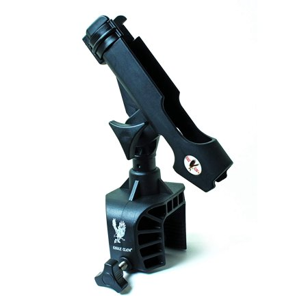 AABRH Clamp-On Aluminum Boat Rod Holder, Black Finish, Crafted out of corrosion resistant, high impact plastic By Eagle Claw