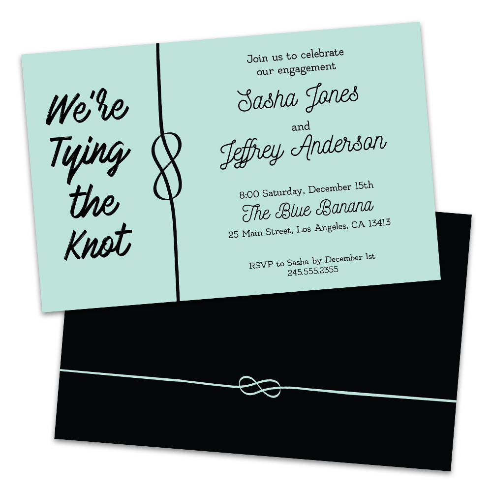 Personalized Tying The Knot Engagement Party Invitations Walmart Com Walmart Com