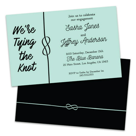 Personalized Tying the Knot Engagement Party Invitations](Halloween Engagement Party Invitations)