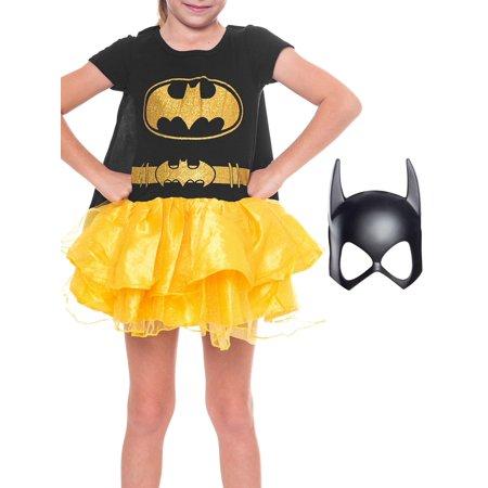 Halloween 2019 Dc Clubs (DC Comics Batgirl Halloween Costume Dress w/Cape & Mask 2-Pcs Set (Big)