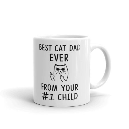 Best Cat Dad Ever From #1 Child Funny Coffee Tea Ceramic Mug Office Work Cup Gift 11
