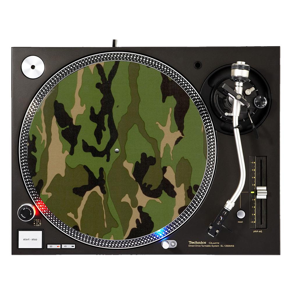 "KuzmarK™ 12"" DJ Turntable Slipmat - Camoflauge"